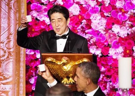 安倍首相@ワシントン