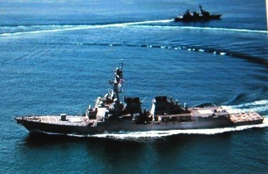 米イージス駆逐艦
