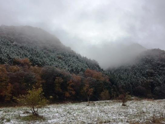 日立太田の雪景色